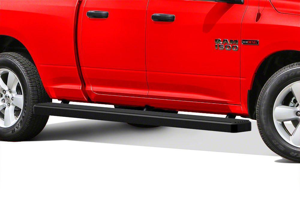 5 in. iStep Wheel-to-Wheel Running Boards - Black (09-18 RAM 1500 Quad Cab)