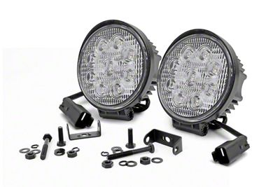 Rough Country 4 in. LED Round Lights - Spot Beam