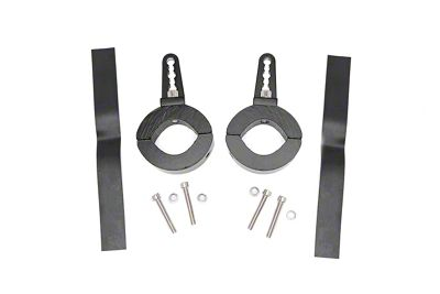 Rough Country Adjustable LED Light Mounting Clamps for 1.5-2 in. Tubing