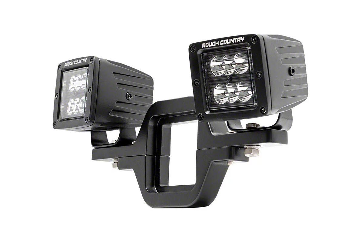 Rough Country Hitch Mount Black Series LED Light Kit - Spot Beam (02-19 RAM 1500)