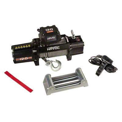 Havoc Offroad 12,000 lb. Winch w/ Steel Cable