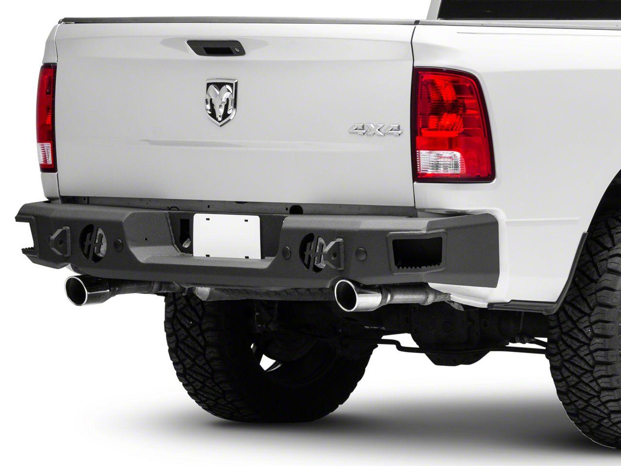 Rear Bumper w/ Round Reverse Light Cutouts (09-18 RAM 1500 w/ Factory Dual Exhaust)