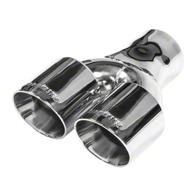 Flowmaster 3.0 in. Dual Angle Cut Exhaust Tip - Polished Stainless - 3.0 in. Connection (02-19 RAM 1500)