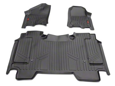 Rough Country Heavy Duty Front & Rear Floor Mats - Black (2019 RAM 1500 Crew Cab)