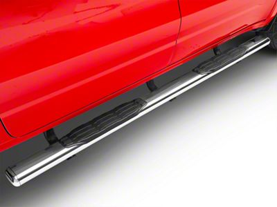 Go Rhino 5 in. 1000 Series Cab Length Side Step Bars - Stainless Steel (2019 RAM 1500 Crew Cab)