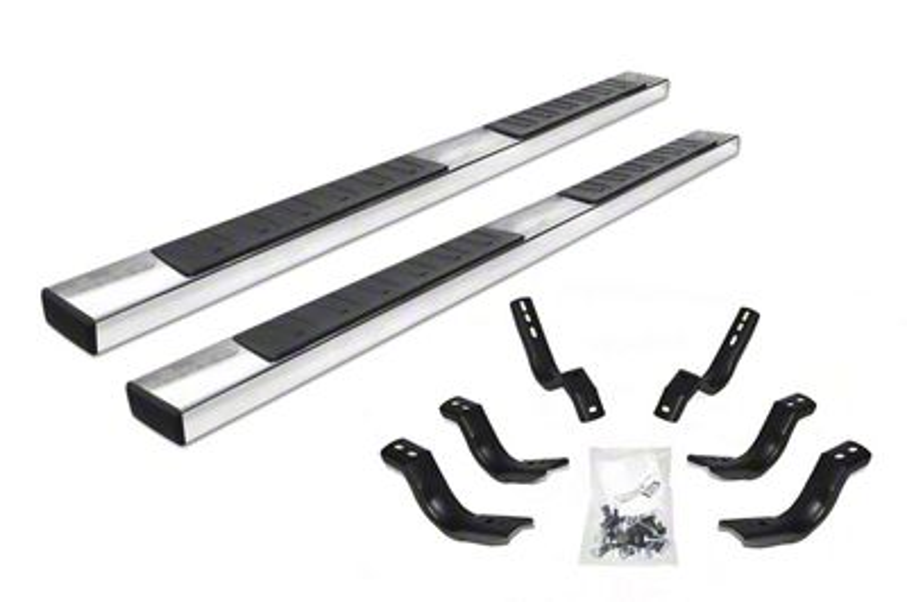 Go Rhino 6 in. OE Xtreme II Side Step Bars - Stainless Steel (2019 RAM 1500 Crew Cab)