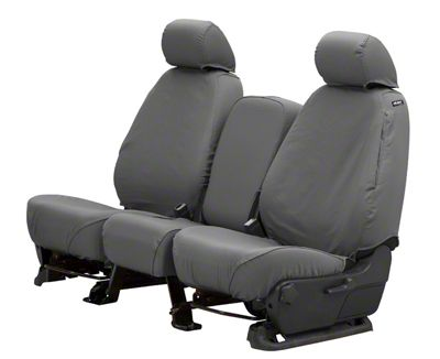 Husky Heavy Duty Front Row Seat Cover - Charcoal (13-18 RAM 1500 w/ Bench Seat)