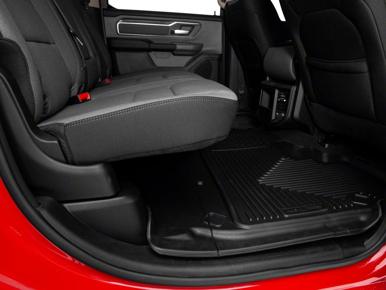 Husky WeatherBeater 2nd Seat Floor Mat - Black (2019 RAM 1500 Crew Cab w/o Factory Storage Box)