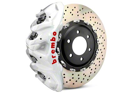 Brembo GT Series 8-Piston Front Brake Kit - 2-Piece Cross Drilled Rotors - White (07-18 Silverado 1500)