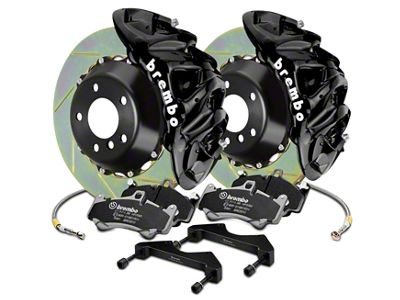 Brembo GT Series 8-Piston Front Brake Kit - 2-Piece Slotted Rotors - Black (07-18 Silverado 1500)