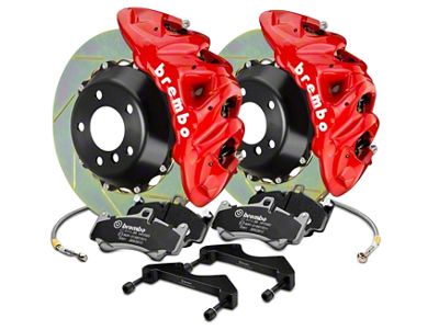 Brembo GT Series 8-Piston Front Brake Kit - 2-Piece Slotted Rotors - Red (07-18 Silverado 1500)
