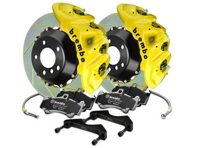 Brembo GT Series 8-Piston Front Brake Kit - 2-Piece Slotted Rotors - Yellow (07-18 Silverado 1500)