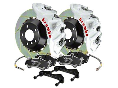 Brembo GT Series 8-Piston Front Brake Kit - 2-Piece Slotted Rotors - White (07-18 Silverado 1500)