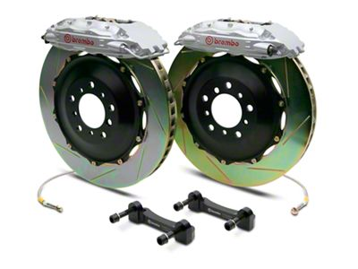 Brembo GT Series 4-Piston Rear Brake Kit - 2-Piece Slotted Rotors - Silver (14-18 Silverado 1500)
