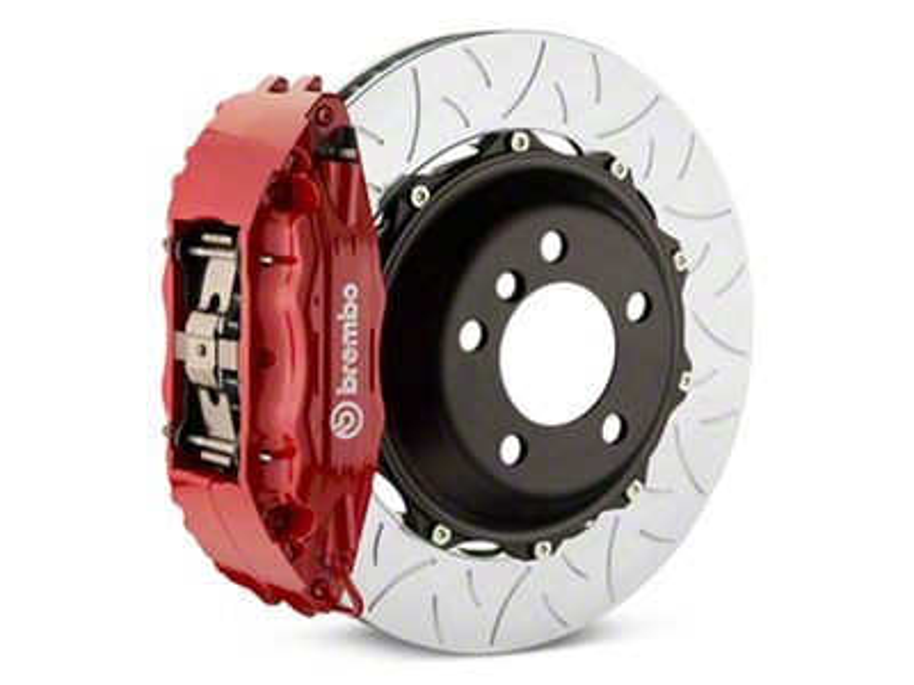 Brembo GT Series 4-Piston Rear Brake Kit - Type 3 Slotted Rotors - Red (14-18 Silverado 1500)