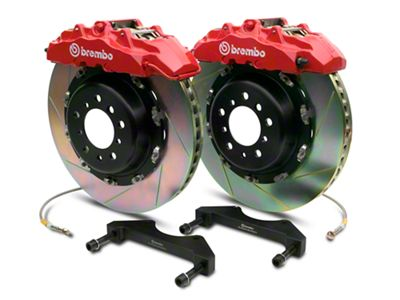 Brembo GT Series 8-Piston Front Brake Kit - 2-Piece Slotted Rotors - Red (00-06 Silverado 1500)
