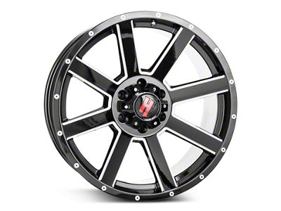 Havok Off-Road H107 Black Milled 6-Lug Wheel - 20x9 (99-18 Silverado 1500)