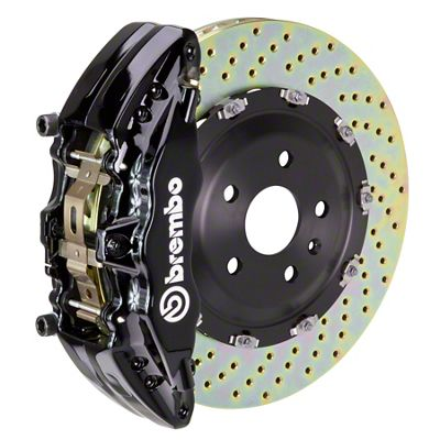 Brembo GT Series 6-Piston Front Brake Kit - 2-Piece Cross Drilled Rotors - Black (00-06 Silverado 1500)