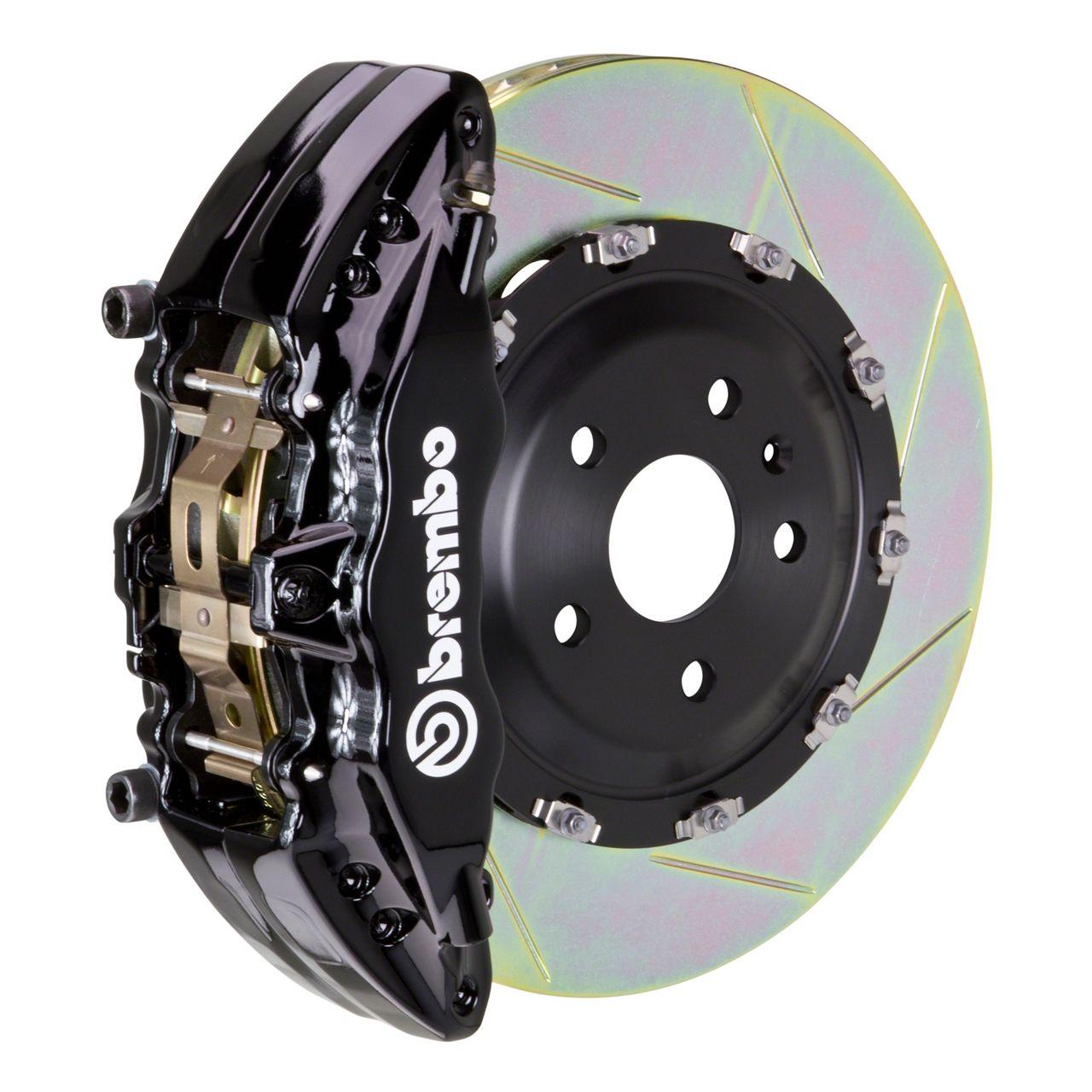 Brembo GT Series 6-Piston Front Brake Kit - 2-Piece Slotted Rotors - Black (00-06 Silverado 1500)