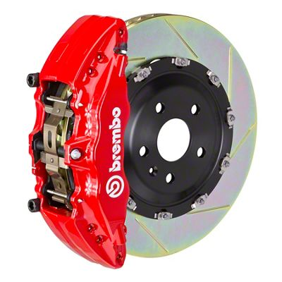 Brembo GT Series 6-Piston Front Brake Kit - 2-Piece Slotted Rotors - Red (00-06 Silverado 1500)