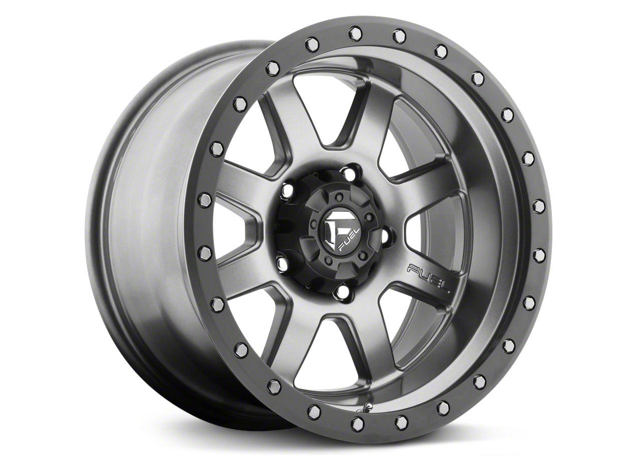 Fuel Wheels Trophy Anthracite w/ Black Ring 6-Lug Wheel - 20x9 (99-18 Silverado 1500)