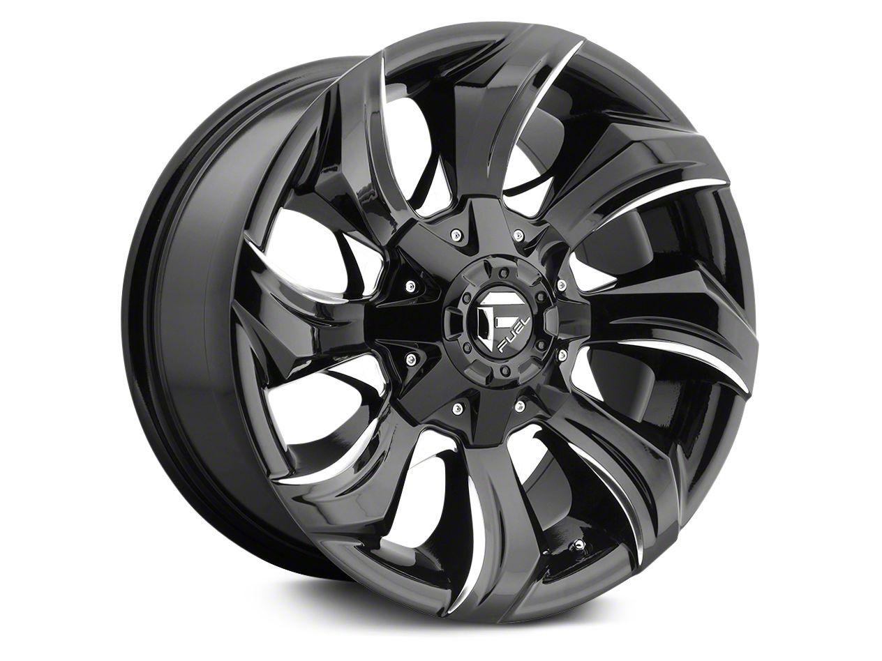 Fuel Wheels Stryker Black Milled 6-Lug Wheel - 17x9 (07-18 Silverado 1500)