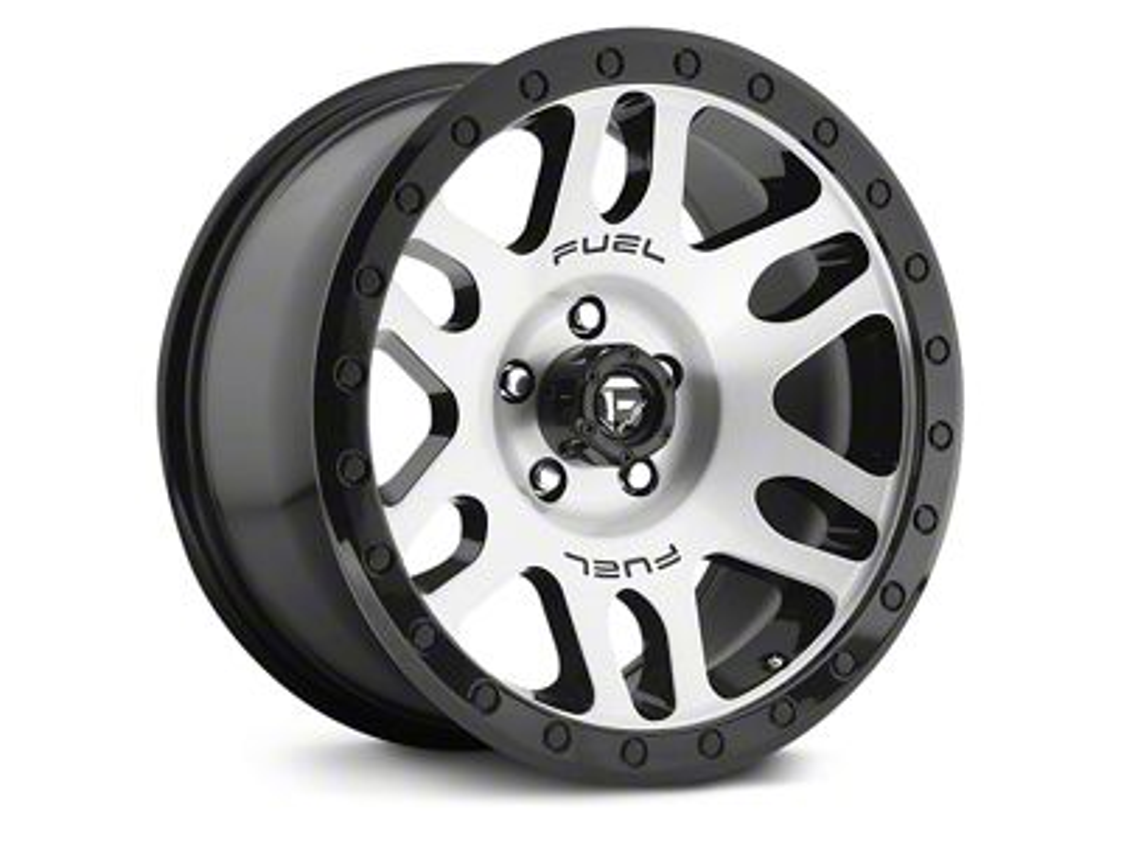 Fuel Wheels Recoil Brushed w/ Black Ring 6-Lug Wheel - 18x9 (07-18 Silverado 1500)