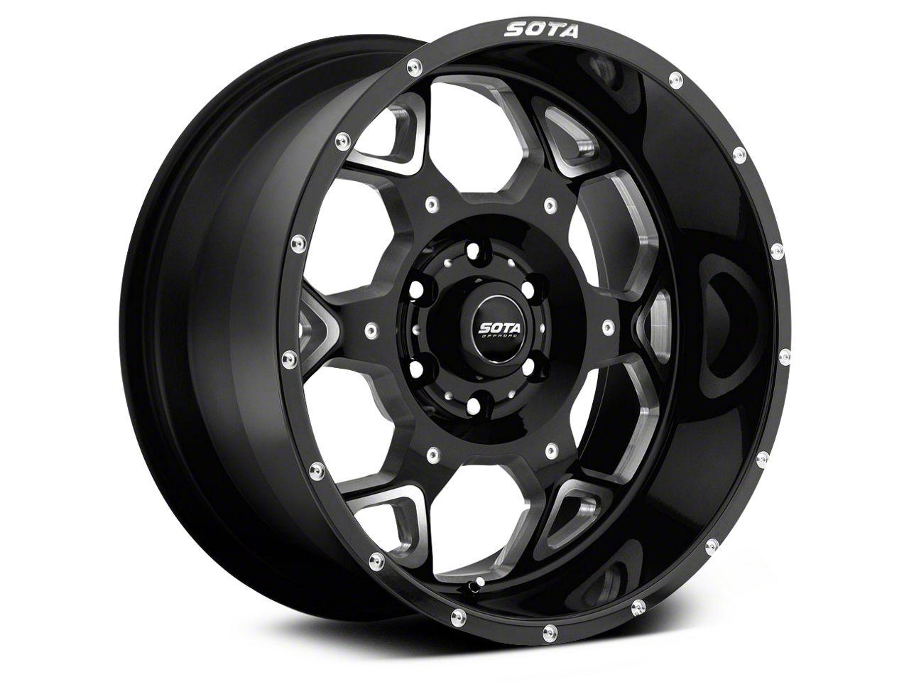 SOTA Off Road SKUL Death Metal 6-Lug Wheel - 20x10 (99-18 Silverado 1500)