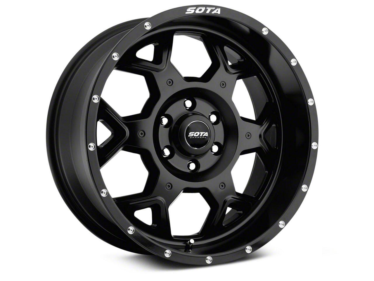 SOTA Off Road SKUL Stealth Black 6-Lug Wheel - 20x9 (99-18 Silverado 1500)