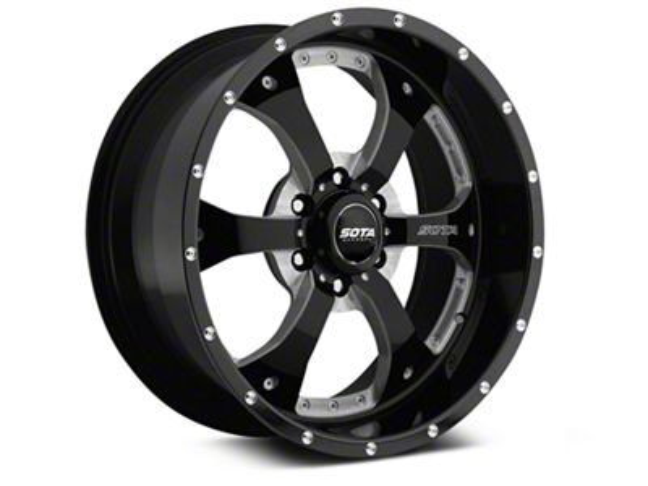 SOTA Off Road NOVAKANE Death Metal 6-Lug Wheel - 22x9.5 (99-18 Silverado 1500)