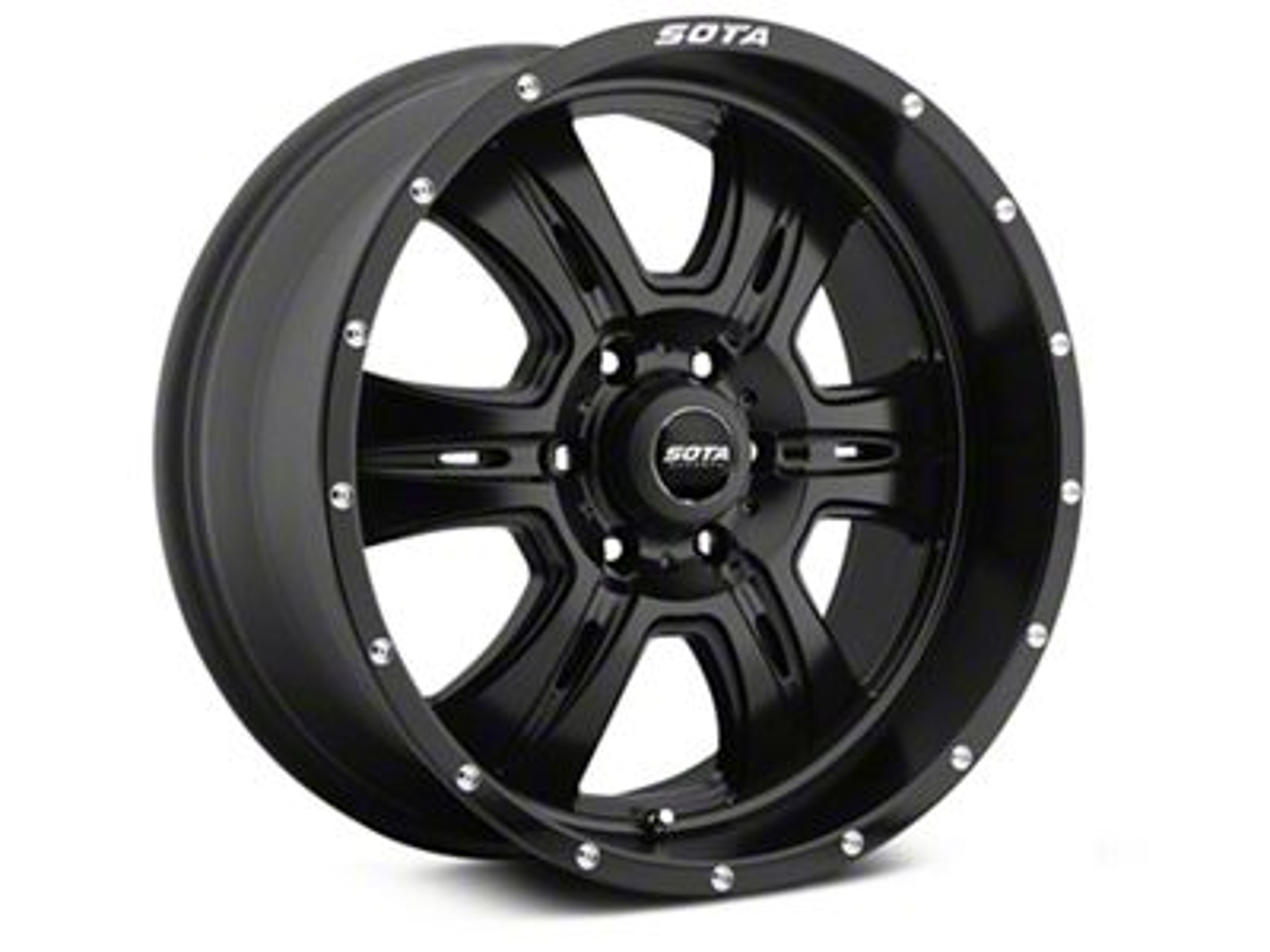 SOTA Off Road REHAB Stealth Black 6-Lug Wheel - 20x9 (99-18 Silverado 1500)