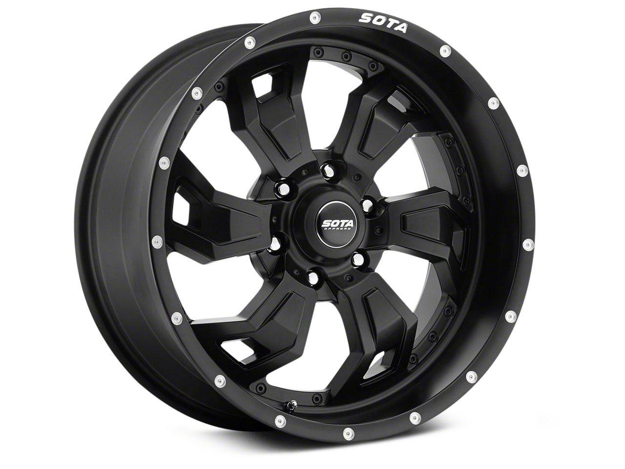 SOTA Off Road SCAR Stealth Black 6-Lug Wheel - 20x9 (99-18 Silverado 1500)