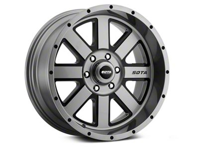 SOTA Off Road A.W.O.L. Anthra-Kote Black 6-Lug Wheel - 20x12 (99-19 Silverado 1500)
