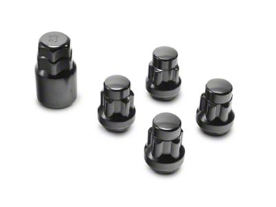 Coyote Locks with Key for Black Acorn Lug Nuts - 14mm x 1.5 (99-19 Silverado 1500)