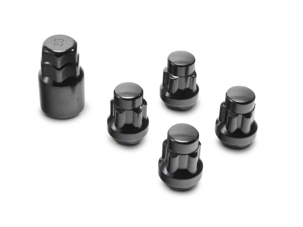 Coyote Locks with Key for Black Acorn Lug Nuts - 14mm x 1.50 in. (99-18 Silverado 1500)