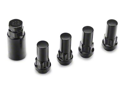 Coyote XL Locks with Key for Black Acorn Lug Nuts - 14mm x 1.5 (99-19 Silverado 1500)