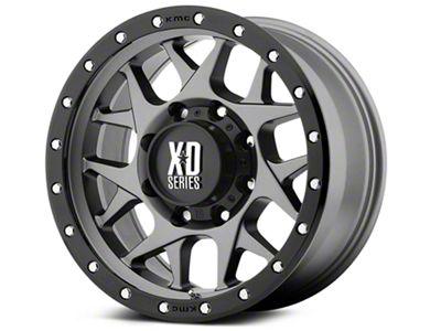 XD Bully Matte Gray w/ Black Ring 6-Lug Wheel - 20x9 (99-18 Silverado 1500)