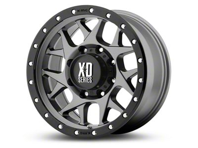 XD Bully Matte Gray w/ Black Ring 6-Lug Wheel - 17x9 (99-18 Silverado 1500)