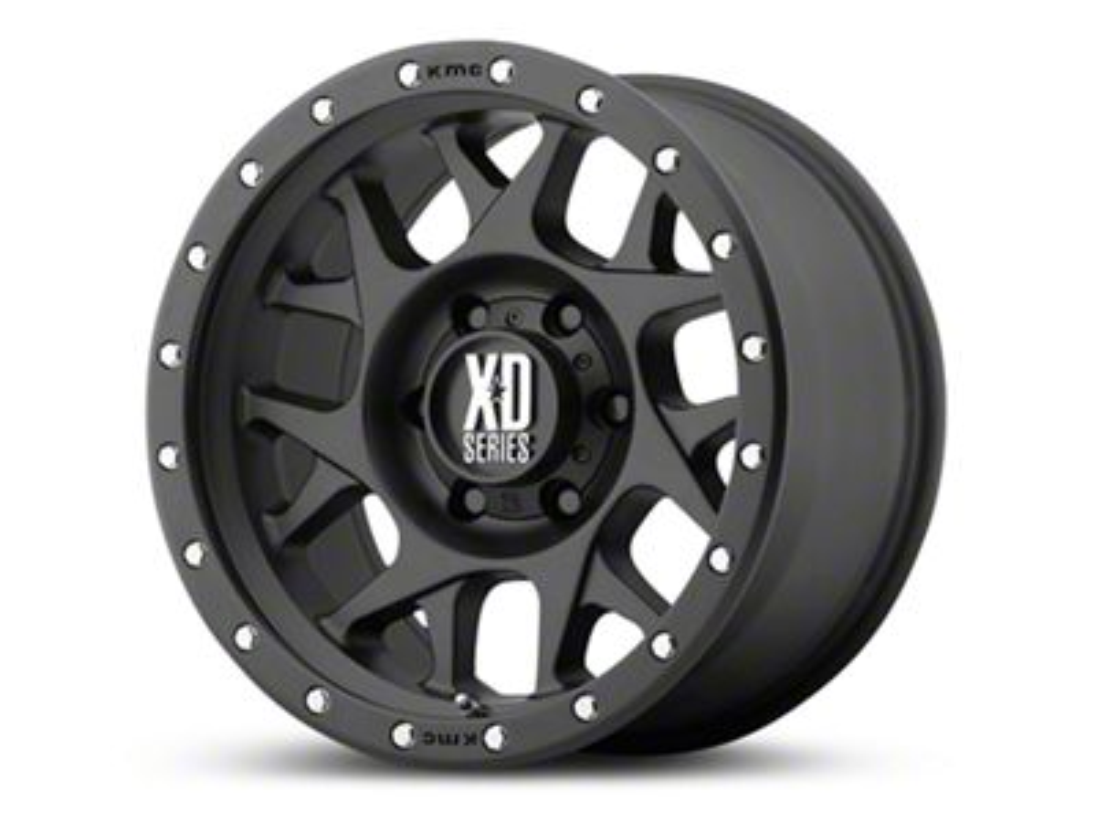 XD Bully Satin Black 6-Lug Wheel - 17x9 (99-19 Silverado 1500)
