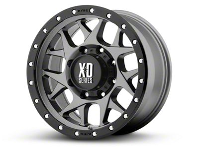 XD Bully Matte Gray w/ Black Ring 6-Lug Wheel - 18x9 (99-18 Silverado 1500)