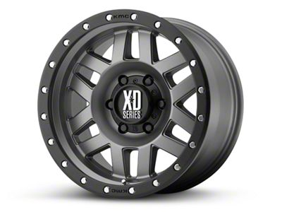 XD Machete Matte Gray w/ Black Ring 6-Lug Wheel - 20x10 (99-18 Silverado 1500)