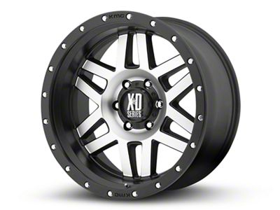 XD Machete Black Machined 6-Lug Wheel - 20x10 (99-18 Silverado 1500)