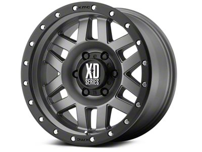 XD Machete Matte Gray w/ Black Ring 6-Lug Wheel - 20x9 (99-18 Silverado 1500)