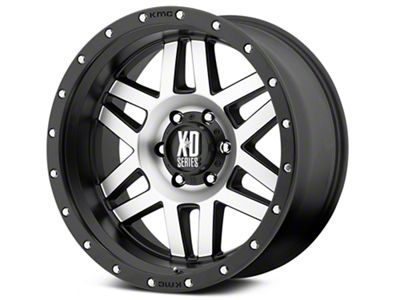 XD Machete Black Machined 6-Lug Wheel - 20x9 (99-18 Silverado 1500)