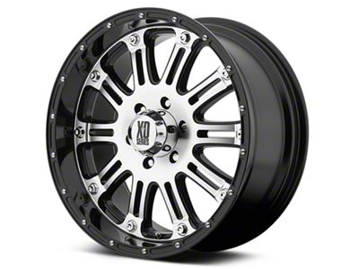XD Hoss Gloss Black Machined 6-Lug Wheel - 20x9 (99-18 Silverado 1500)
