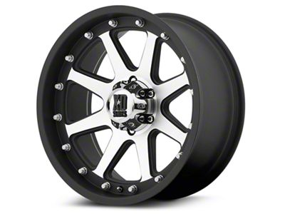 XD Addict Matte Black Machined 6-Lug Wheel - 17x9 (99-18 Silverado 1500)