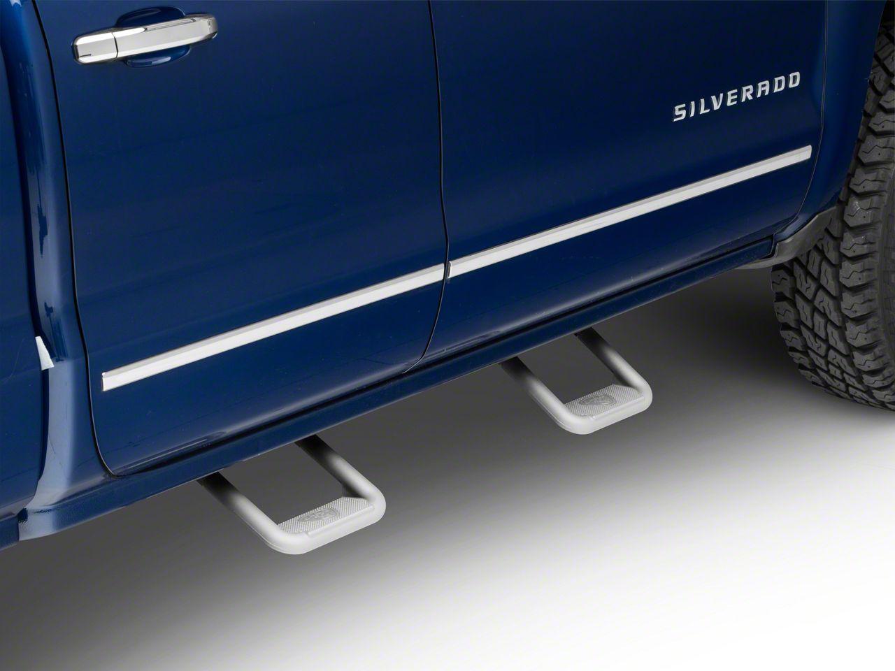 Carr Hoop II Steps - Titanium Silver (99-18 Silverado 1500)