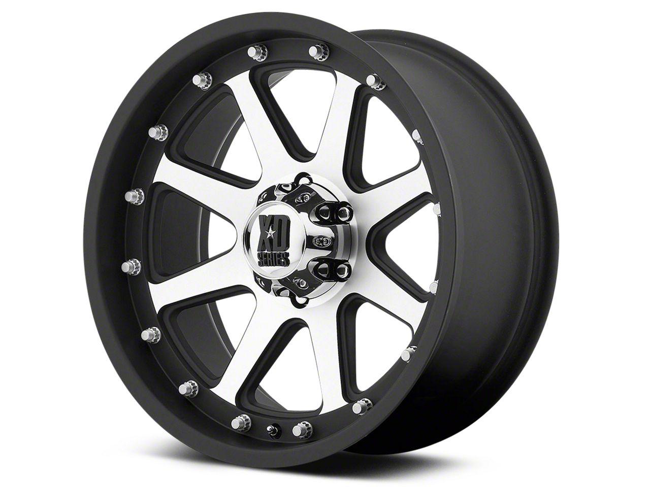 XD Addict Matte Black Machined 6-Lug Wheel - 18x9 (99-19 Silverado 1500)