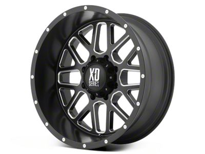 XD Grenade Satin Black Milled 6-Lug Wheel - 22x12 (99-18 Silverado 1500)