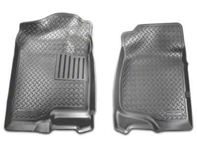 Husky Classic Front Floor Liners - Gray (07-13 Silverado 1500 Extended Cab, Crew Cab)